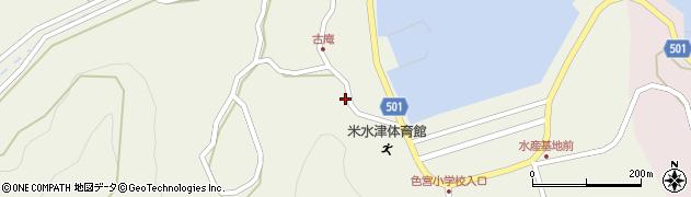 大分県佐伯市米水津大字色利浦1505周辺の地図