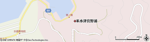 大分県佐伯市米水津大字宮野浦165周辺の地図