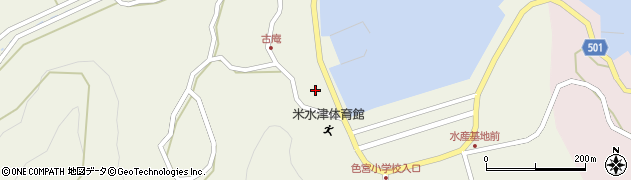 大分県佐伯市米水津大字色利浦1518周辺の地図