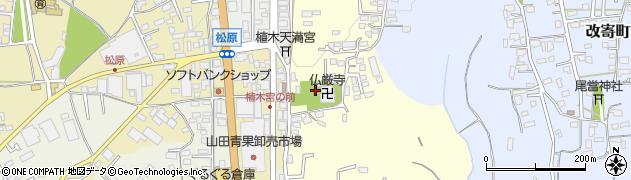 仏巌寺周辺の地図