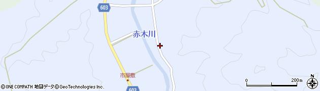 大分県佐伯市直川大字赤木3158周辺の地図