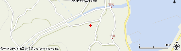 大分県佐伯市米水津大字色利浦1212周辺の地図