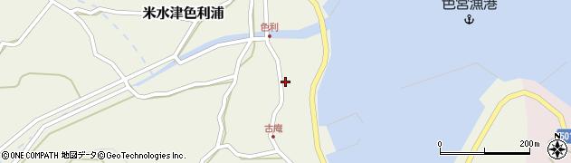 大分県佐伯市米水津大字色利浦1283周辺の地図