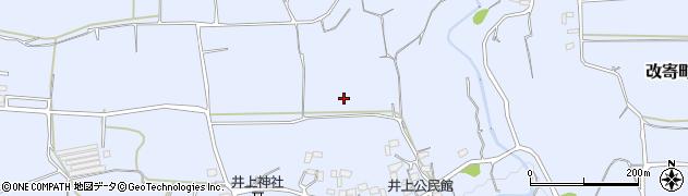 熊本県熊本市北区改寄町周辺の地図