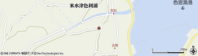 大分県佐伯市米水津大字色利浦1231周辺の地図