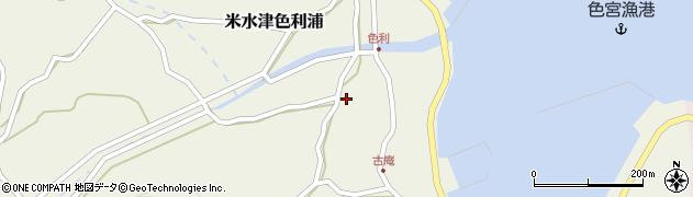 大分県佐伯市米水津大字色利浦1302周辺の地図
