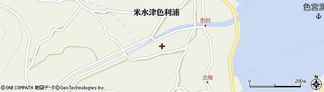 大分県佐伯市米水津大字色利浦449周辺の地図