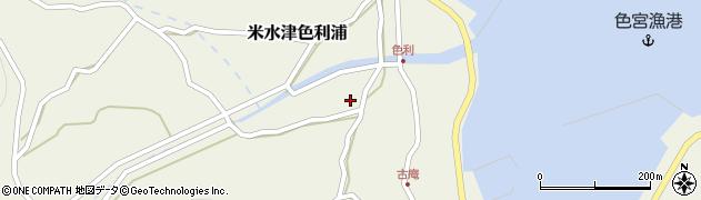 大分県佐伯市米水津大字色利浦452周辺の地図