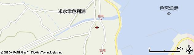 大分県佐伯市米水津大字色利浦1266周辺の地図
