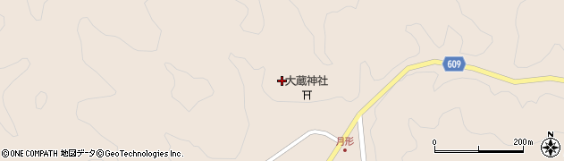 大分県佐伯市直川大字横川月形周辺の地図