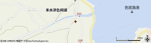 大分県佐伯市米水津大字色利浦1265周辺の地図