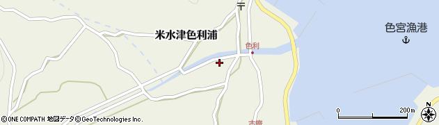 大分県佐伯市米水津大字色利浦1253周辺の地図
