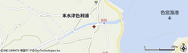 大分県佐伯市米水津大字色利浦1255周辺の地図