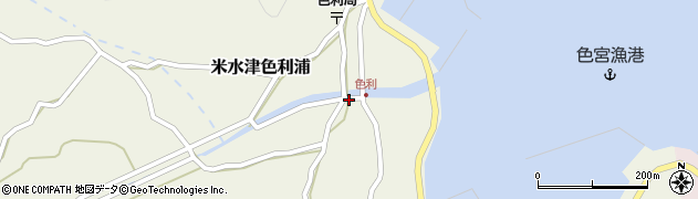 大分県佐伯市米水津大字色利浦1261周辺の地図