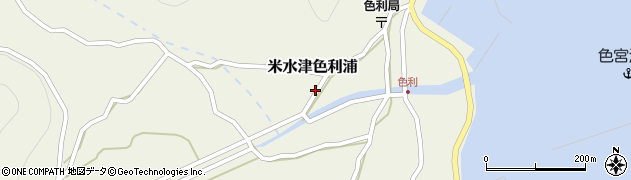 大分県佐伯市米水津大字色利浦447周辺の地図