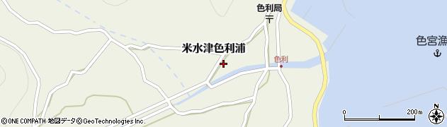 大分県佐伯市米水津大字色利浦437周辺の地図