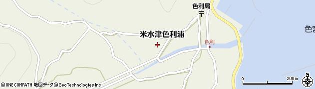 大分県佐伯市米水津大字色利浦446周辺の地図