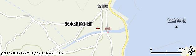 大分県佐伯市米水津大字色利浦352周辺の地図