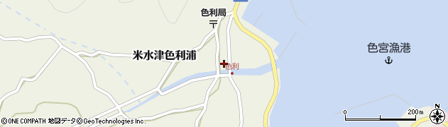 大分県佐伯市米水津大字色利浦349周辺の地図