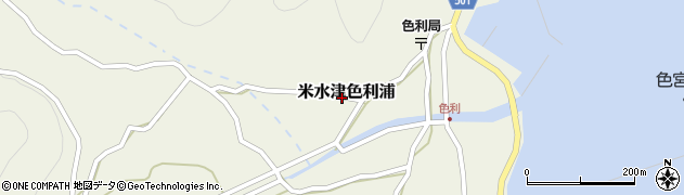 大分県佐伯市米水津大字色利浦441周辺の地図