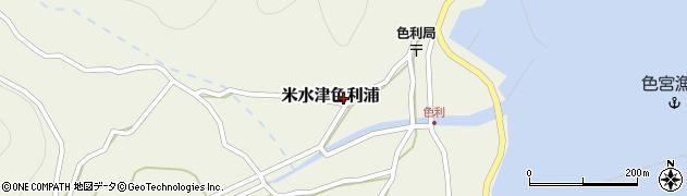 大分県佐伯市米水津大字色利浦483周辺の地図