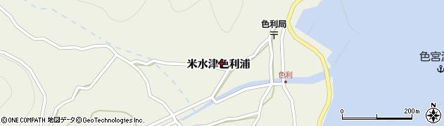 大分県佐伯市米水津大字色利浦484周辺の地図