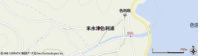 大分県佐伯市米水津大字色利浦485周辺の地図