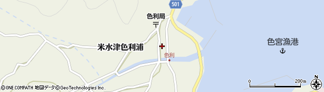 大分県佐伯市米水津大字色利浦340周辺の地図