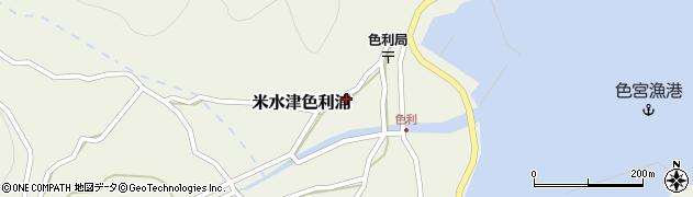 大分県佐伯市米水津大字色利浦422周辺の地図