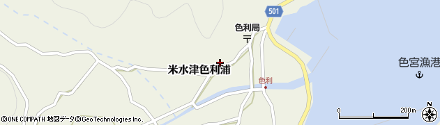 大分県佐伯市米水津大字色利浦401周辺の地図