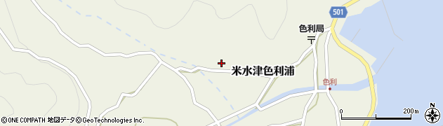 大分県佐伯市米水津大字色利浦512周辺の地図