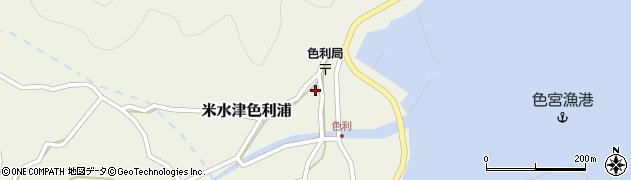 大分県佐伯市米水津大字色利浦369周辺の地図