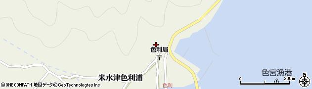 大分県佐伯市米水津大字色利浦383周辺の地図