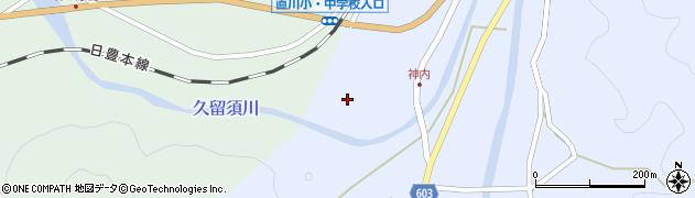 大分県佐伯市直川大字赤木202周辺の地図
