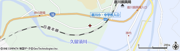 大分県佐伯市直川大字赤木133周辺の地図