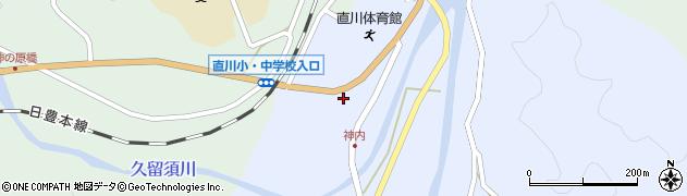 大分県佐伯市直川大字赤木77周辺の地図