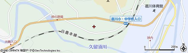 大分県佐伯市直川大字上直見406周辺の地図