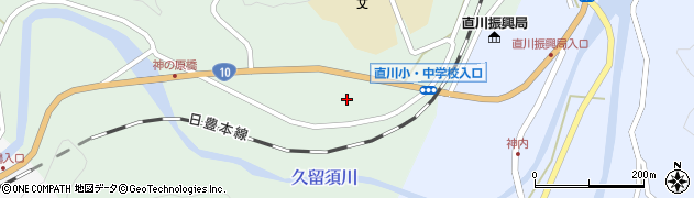 大分県佐伯市直川大字上直見424周辺の地図