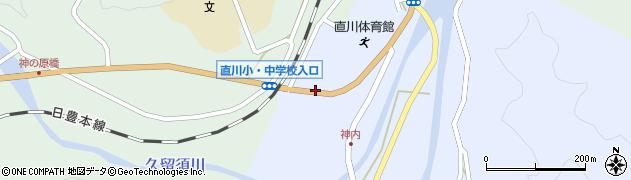大分県佐伯市直川大字赤木97周辺の地図