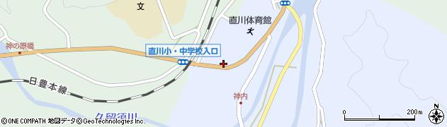大分県佐伯市直川大字赤木119周辺の地図