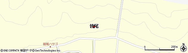 高知県三原村(幡多郡)皆尾周辺の地図