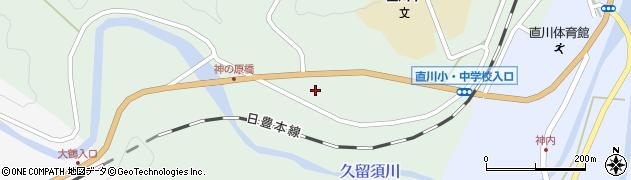大分県佐伯市直川大字上直見387周辺の地図