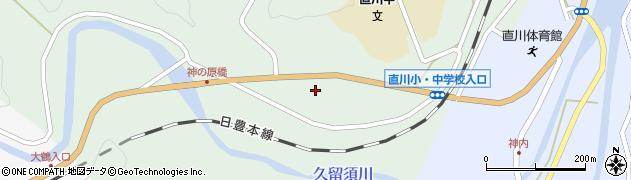 大分県佐伯市直川大字上直見393周辺の地図