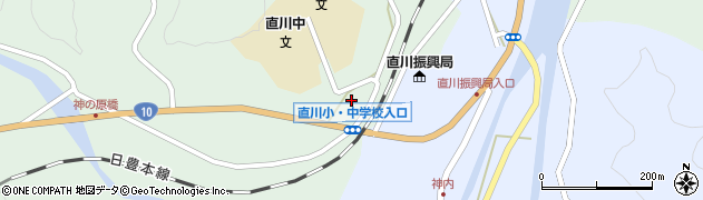 大分県佐伯市直川大字上直見534周辺の地図