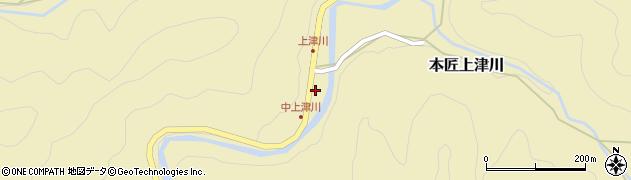 大分県佐伯市本匠大字上津川357周辺の地図