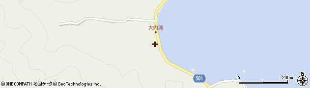 大分県佐伯市米水津大字色利浦277周辺の地図