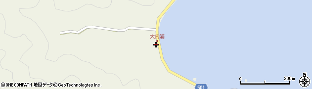 大分県佐伯市米水津大字色利浦284周辺の地図