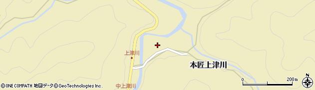 大分県佐伯市本匠大字上津川1063周辺の地図
