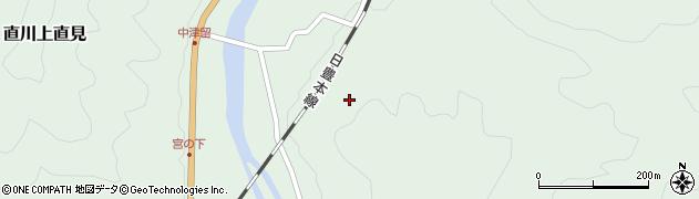 大分県佐伯市直川大字上直見中津留周辺の地図
