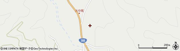 大分県佐伯市木立大中尾区周辺の地図